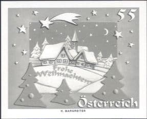 Austria 2005  Christmas/ Greetings/ Houses  SPECIAL BLACK ONLY IMPERFORATE  1v (n44457b)