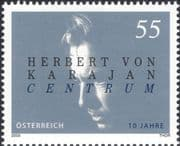 Austria 2005 Herbert von Karajan/ Composers/ Music/ People/ Entertainment Centre 1v (at1273)