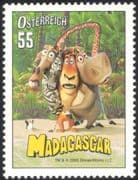 "Austria 2005 ""Madagascar""/ Penguin/ Lion/ Zebra/ Films/ Movies/ Cinema/ Animation  1v at1075"