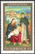 Austria 2006 Christmas/ Greetings/ Nativity/ Donkey/ Painting/ Art/ Artists 1v (at1113)