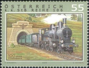Austria 2006  Steam Engine/ Locomotives/ Trains/ Railway/ Rail/ Transport  1v  (n16960)