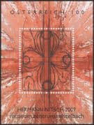 Austria 2007 Hermann Nitsch/ Modern Art/ Contemporary/ Paintings/ Artists imperforate m/s (at1122)