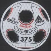 "Austria 2008 EURO 2008 Football Championships/ Adidas ""Europass"" Ball 1v s/a embossed (at1175)"