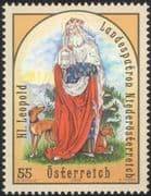 Austria 2009 Patron Saints/ St Leopold/ People/ Church/ Dogs/ Animals/ Religion 1v (at1106)