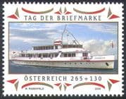 Austria 2009 Stamp Day/ Boats/ Steamer/ Ships/ Ferry/ Lake Constance/ Transport 1v (n42186)