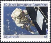 Austria 2011 Manned Space Flight 50th Anniversary/ Space Walk/ Astronauts/ Rockets/ Science/ Technology 1v (at1055)