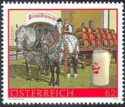 Austria 2012 Stiegl Brewery/  Horses/ Cart/ Dray/ Beer/ Alcohol/ Transport 1v (n42200)