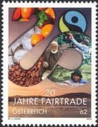 Austria 2013 Fairtrade Anniversary/ Coffee/ Food/ Farmers/ Plants/ Nature 1v (at1271)