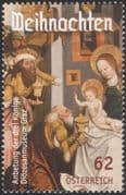 Austria 2014 Christmas/ Greetings/ Nativity/ Art/ Stable/ Magi/ Kings 1v (at1086)