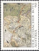Austria 2014 Fussach Courier/ Postal Service/ Maps/ History/ Heritage 1v (at1237)