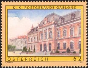 Austria 2014 Gablonz/ Post Office Buildings/ Architecture/ Post/ Mail/ History/ Heritage 1v (at1188)