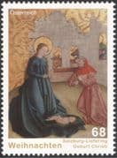 Austria 2015 Christmas/ Greetings/ Nativity/ Cattle/ Paintings/ Art/ Artists 1v (at1047a)