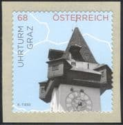 Austria 2015 Clock Tower/ Building/ Architecture/ Heritage/ History'/ Clocks 1v s/a (at1060)