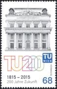 Austria 2015 Vienna University of Technology 200th Anniversary /Buildings/ Architecture/ Science/ Education 1v (at1183)