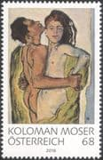 Austria 2016 Koloman Moser/ Artists/ Paintings/ Art/ Nude/ Naked/ Nudes/ Woman/ People 1v (at1218)