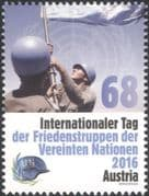 Austria 2016 UN Day/ Austrian Armed Forces/ Military/ Soldiers/ Army/ Flags 1v (at1165)
