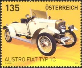 Austria 2019  Austro Fiat Type 1C/ Vintage Cars/ Motors/ Motoring/ Transport  1v  (at1320)