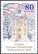Austria 2019  Christmas/ Greetings/ Post Office/ Buildings/ Architecture 1v (at1177a)