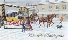 Austria 2019 Historical Postal Transport/ Horses/ Carriage/ Postman/ Coach/ Sleigh   1v m/s (at1316)