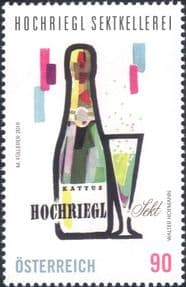 Austria 2019  Hochriegl Sparkling Wine/ Alcohol/ Drink/ Business/ Commerce  1v  (at1202a)