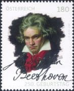 Austria 2020  Beethoven/ Music/ Musicians/ Composers/ People/ Entertainment  1v  (n46400)