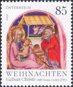 Austria 2020  Christmas/ Greetings/ Nativity/ Art/ Stable/ Cattle/ Donkey/ Religion  1v  (at1187a)