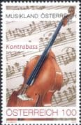 Austria 2020  Double Bass/ Music/ Musical Instruments/ Score/ Composers/ Orchestra 1v (at1328)