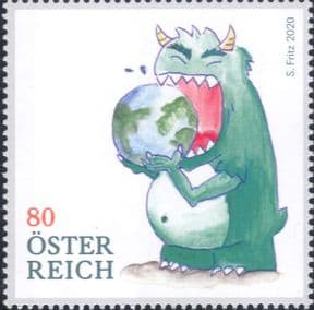 Austria 2020  Environment/ Conservation/ Ecology/ Consumption Monster/ Animation  1v (at1180a)