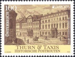Austria 2020  Europa/ Thurn & Taxis Post Office/ Building/ Architecture/ Postal History  1v at1178a