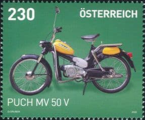 Austria 2020  Puch MV50 V/ Motorcycles/ Motor Bikes/ Moped/ Transport/ Postal 1v (at1319)