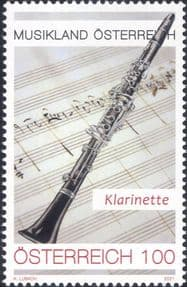 Austria 2021  Clarinet/ Music/ Musical Instruments/ Score/ Orchestra  1v  (at1203a)