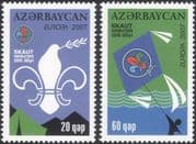 Azerbaijan 2007 Europa/ Scouts/ Scouting/ Youth/ Leisure/ Badge/ Kite 2v set (n44814)