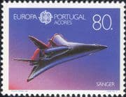 Azores (Portugal) 1991 Europa/ Space/ Sanger Spaceplane/ Plane/ Transport 1v (n21596a)