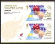 GB 2012 Paralympics/ Olympic Games/ Swimming/ Sports/ Gold Medal Winners/ Ollie Hynd 2v + lbl n36308