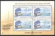 Bahamas 2005 Europa Stamps 50th Anniversary  /  Flags  /  Map  /  Boat 4v m  /  s (n38884)