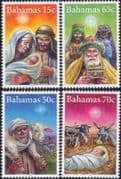 Bahamas 2015  Christmas/ Nativity/ Stable/ Cattle/ Donkey/ Sheep/ Goat/ Magi/ Kings  4v set (n46356)