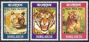 Bangladesh 1974 Tigers  /  Cats  /  Animals  /  Nature  /  Wildlife  /  Conservation 3v set (s4369)