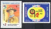 Bangladesh 1982 Scouts  /  Scouting  /  Baden-Powell  /  People 2v set (n29860)