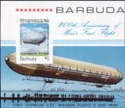 Barbuda 1983 Aviation/ Flight/ Zeppelin/ Aircraft/ Balloon imperforate  m/s (s996a)