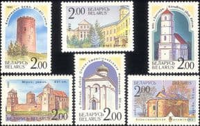 Belarus 1992 Castles/ Churches/ Tower/ Architecture/ Buildings/ History/ Heritage   6v set (n45311z)
