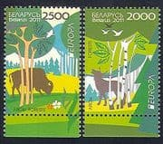 Belarus 2011 Europa  /  Forests  /  Trees  /  Nature  /  Environment  /  Animals 2v set (n33970)