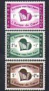 Belgium 1959 Relief Fund  /  Heart  /  Refugees  /  Displaced Persons 3v set (n38203)