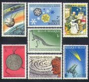 Belgium 1966 Space/ Dinosaur/ Comet/ Books/ Snow/ Weather/ Science/ Nature 7v set (n33753)
