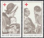 Belgium 1968 Red Cross/ Royalty/ Medical/ Health/ Welfare/ Doctors/ Children 2v set (n33741)