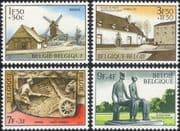 Belgium 1970 Windmill/ Buildings/ Architecture/ Art/ Statue/ Tourism 4v set (be1006)