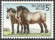 Belgium 1976 Ardennes Draught Horses/ Working Animals/ Nature/ Transport 1v (s5705d)