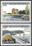 Belgium 1977 Europa/ Water/ Dam/ Reservoir/ River/ Environment 2v set (n32567)