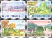 Belgium 1983 Castle/ Church/ Park/ Trees/ River/ Buildings/ Architecture 4v set (be1005)