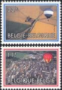 Belgium 1983 Hot Air Balloons/ Aviation/ Aircraft/ Flight/ Transport 2v set (be1002)