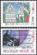 Belgium 1985 Europa/ Music Year/ Composers/ Piano/ Score/ Instruments 2v set (n21273)